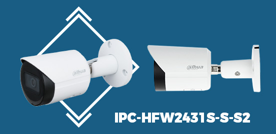 IPC-HFW2431S-S-S2 4MP WDR IR Bullet Network Camera