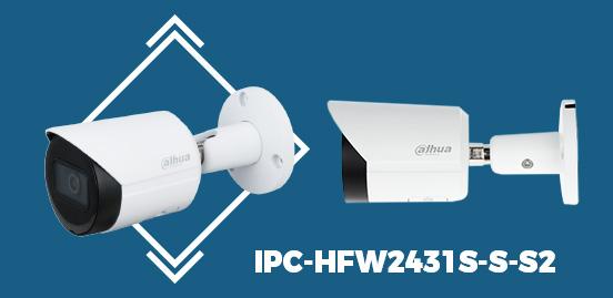 IPC-HFW2431S-S-S2 4MP WDR IR Bullet Network Camera