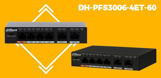 DAHUA POE SWITCH DH-PFS3006-4ET-60